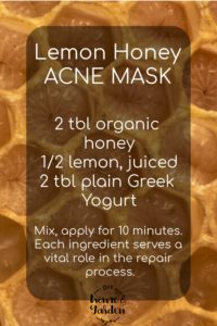 lemon honey acne mask