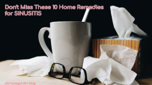 sinusitis aka sinus infection remedies