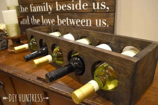 Homemade Christmas Gifts: Wooden Wine Rack