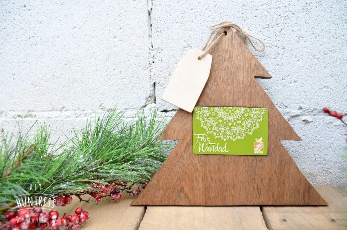 Home Depot Virtual Party DIY Christmas Tree Gift Card
