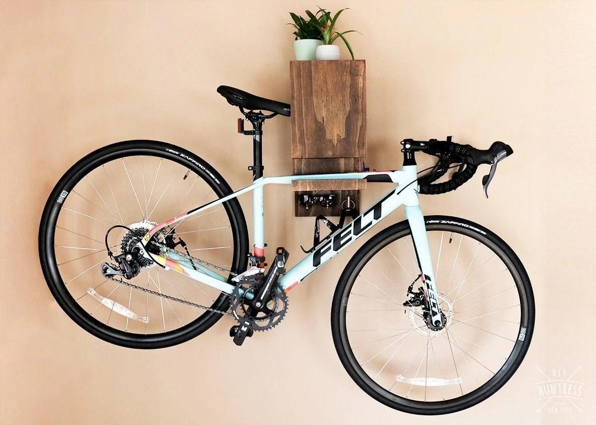 diy wall mounted bike rack diy huntress