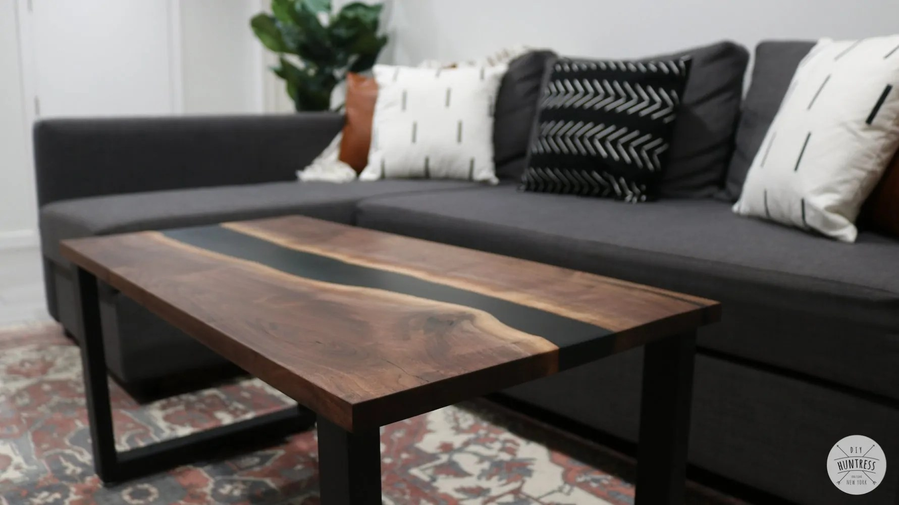 diy resin river coffee table diy huntress