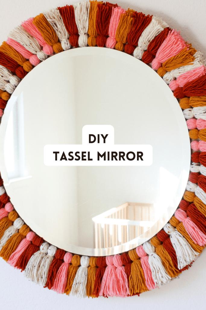 DIY Tassel Mirror Pinterest Image