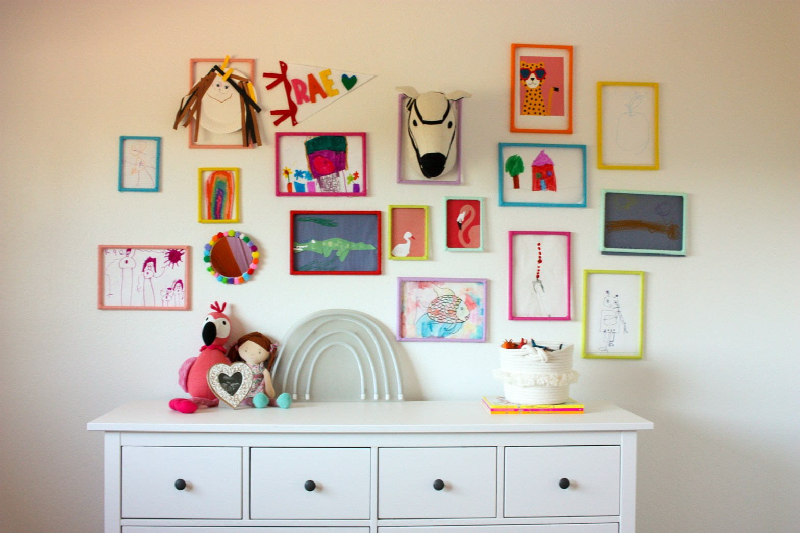DIY Rainbow Gallery Art Wall
