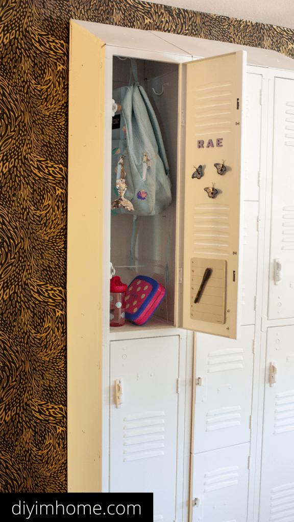 Metal Locker Entryway Idea