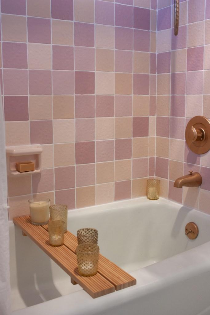 DIY Painted Shower Tile