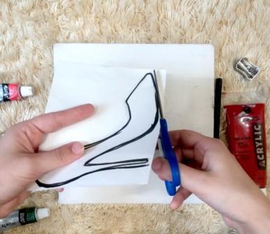 DIY Canvas Silhouette