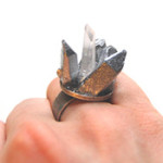 Spiky Crystal Ring