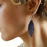 Fake Leather Feather Earrings
