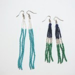 DIY Color Blocked Beaded Tassel Earrings