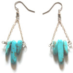 DIY Turquoise Spike Earrings