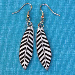 Geometric Chevron Feather Earrings