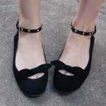 DIY Ribbon, Chain, or Studded Ankle Strap Flats