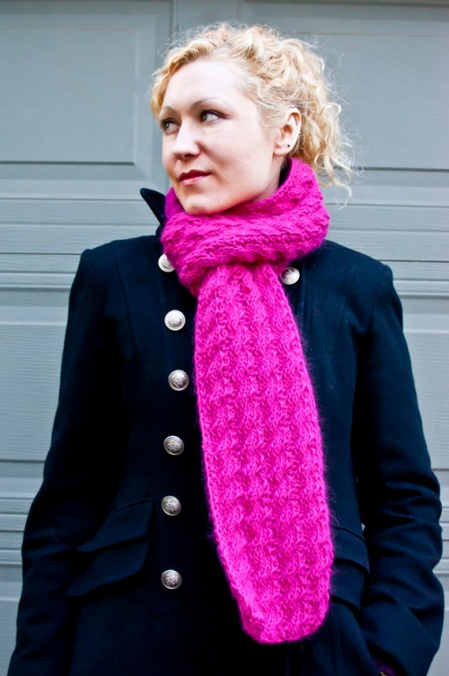 reversible cable scarf knitting pattern