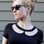 DIY Cutout Collar T-Shirt Tutorial