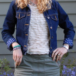 DIY Lined Jean Jacket Cuffs Tutorial