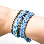 DIY Braided Thread and Chain Wrap Bracelet Tutorial
