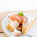 Lemon Almond Yogurt Cake with Rhubarb Compote (Gluten-Free)