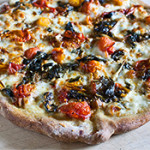 Cherry Tomato and Chard Pizza Margherita