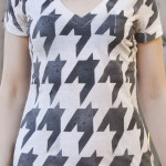 DIY Houndstooth Stenciled Shirt