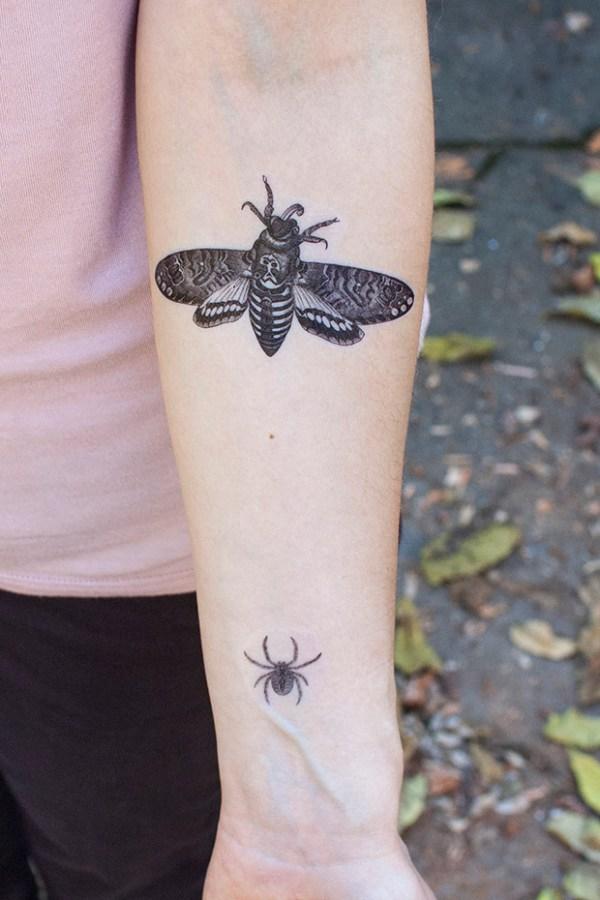 DIY Halloween Faux Tattoos