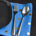 DIY Gold Dot Napkins