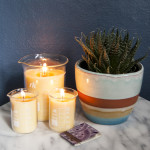 DIY Beeswax Candles in Beakers