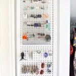 DIY Pegboard Jewelry Storage