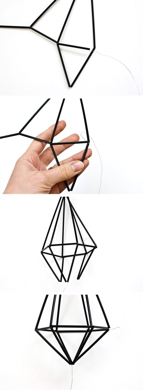 Learn how to make DIY geometric himmeli gems
