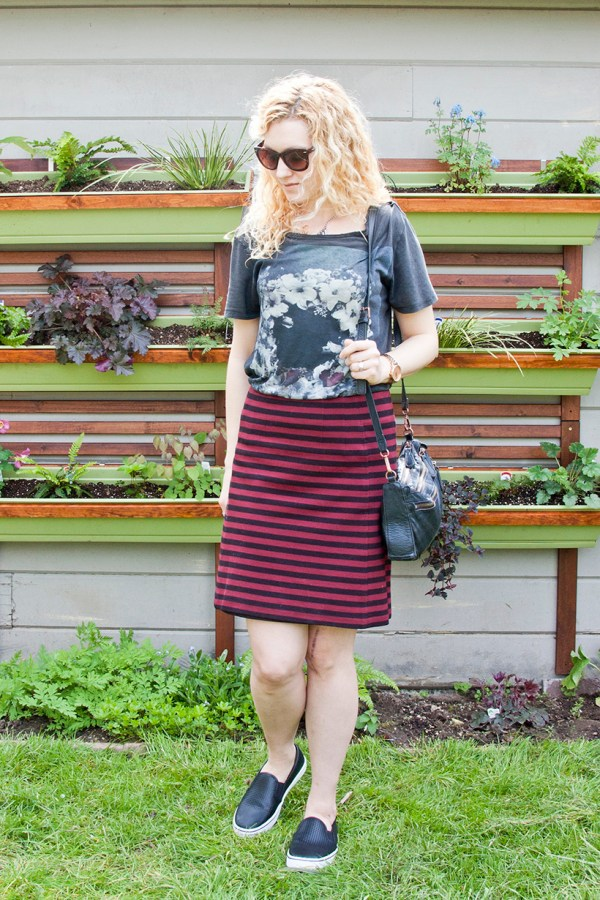 Outfit Post: Stripes and Flowers and Scars