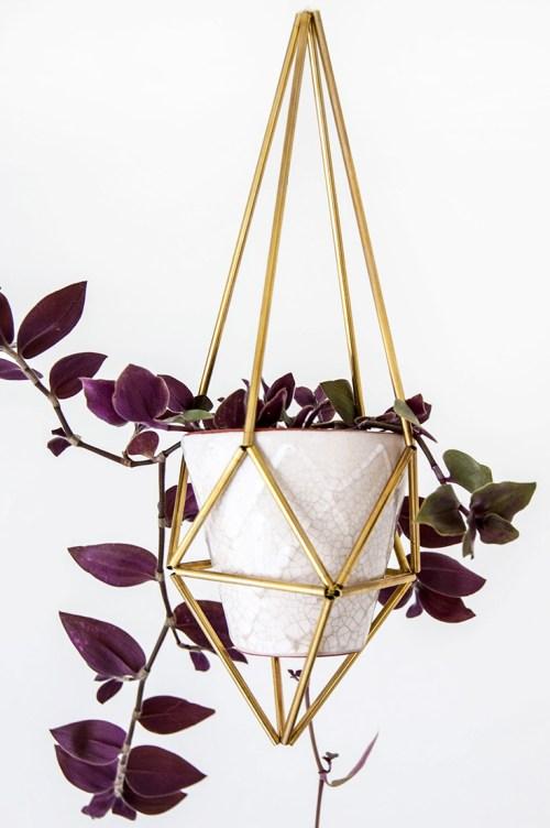 DIY himmeli plant holder