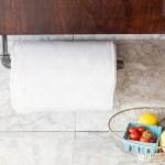 DIY Pipe Paper Towel Holder