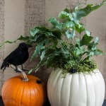 Faux Pumpkin Planter for Halloween or Thanksgiving