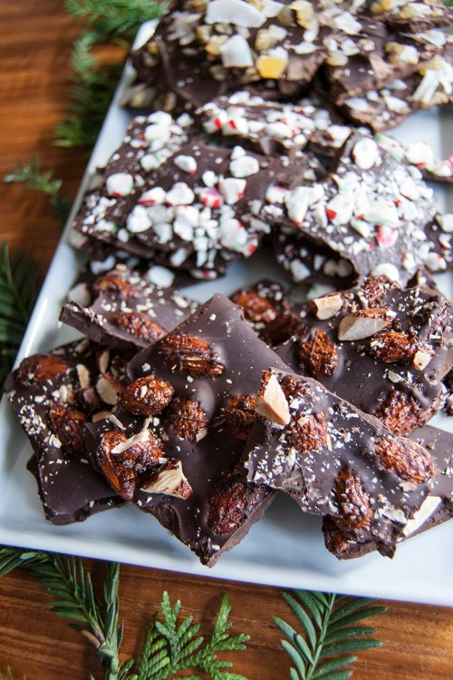 This miso almond chocolate bark is a twist on the usual chocolate bark flavors