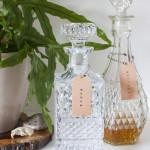 DIY Leather Liquor Bottle Labels