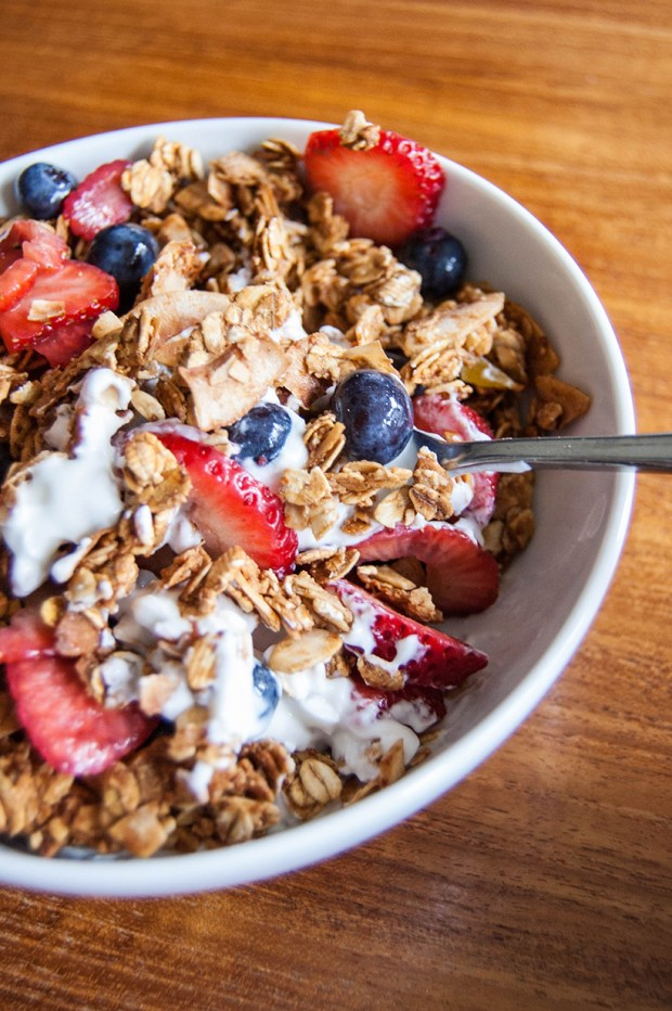coconut ginger almond granola
