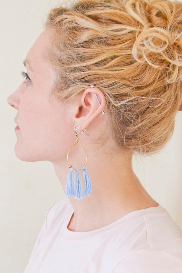 DIY Brass Tassel Earrings