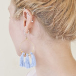 Brass Bead & Tassel Earrings