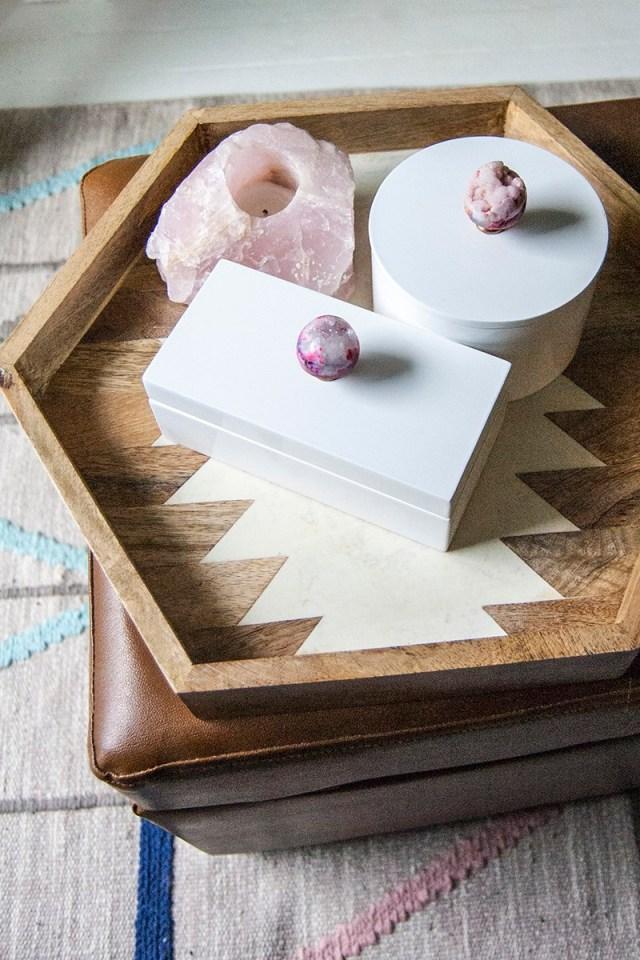 DIY geode jewelry box