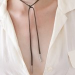 DIY bolo wrap necklace