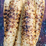 Carmelized Honey Miso Butter Grilled Corn