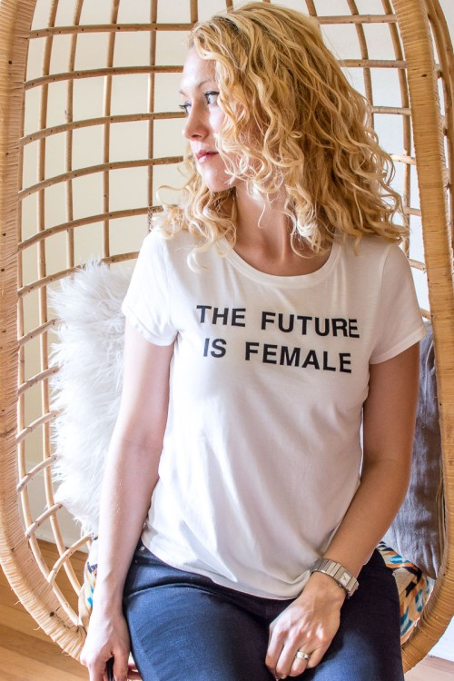 DIY Feminist Statement T-shirts