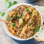 Vegan Slow Cooker Lentil, Kale, and Carrot Curry