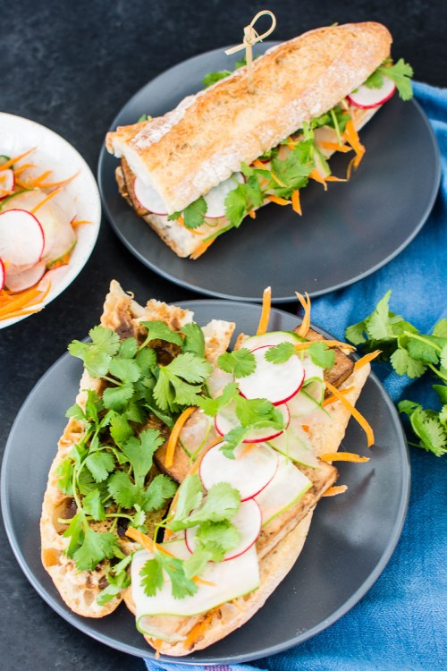 Tofu Bánh Mì - Make a flavorful, vegan version of this delicious Vietnamese sandwich with lemongrass ginger tofu
