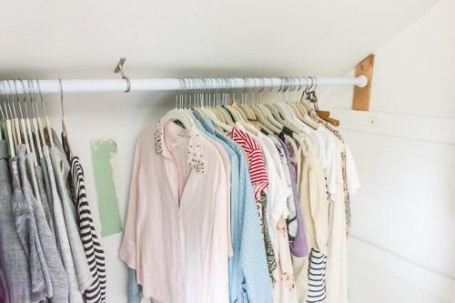 closet during makeover