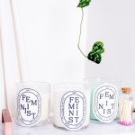 Stick these free printable feminist candle labels to the candle of your choice, and get a designer-candle look that makes a statement