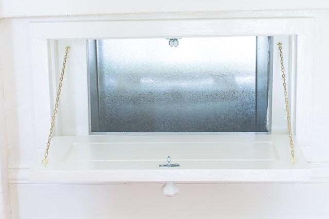 DIY vintage-style laundry chute