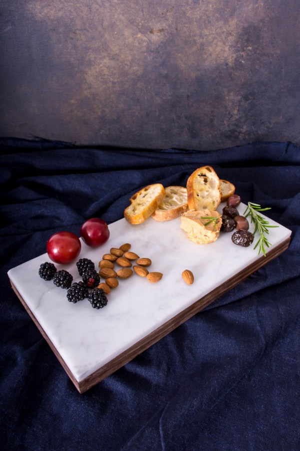 DIY Reversible Marble and Wood Serving Board