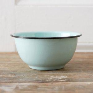 mint enamel bowl