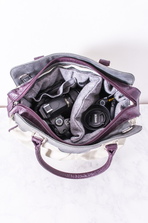 How to convert a purse to a camera bag